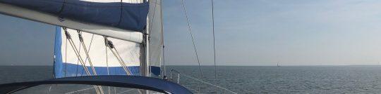 Mit Segelyacht auf dem Ijsselmeer Kurs Lemmer