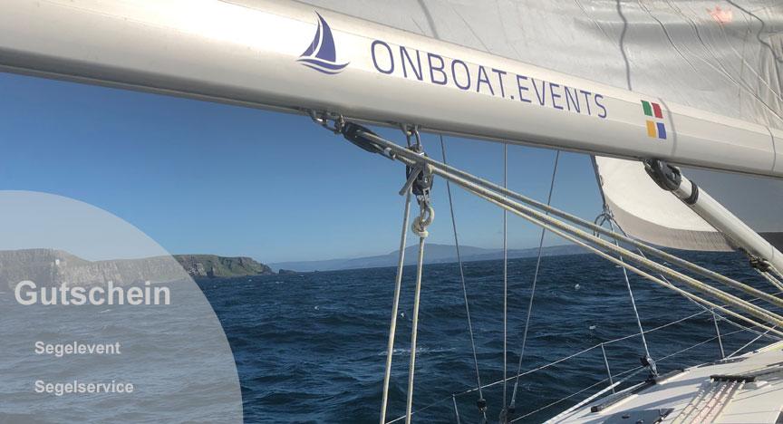 Gutschein von onboat.events für Segelevent oder Segelservice