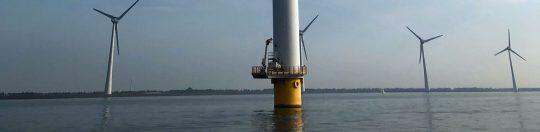 Windkraftrad / Windenergie am Ijsselmeer - Lemmer