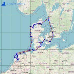 Seekarte Segeltörn - Westküste Dänemark, Westküste Schweden, Nord-Ostsee-Kanal NOK und west- und ostfrisische Inseln