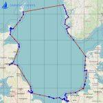 Seekarte Segeltörn - Englands Ostküste bis zu den Shetlands, Querung der Nordsee nach Norwegen - Bergen und die Westküste Dänemarks