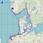 Seekarte Segeltörn - Westküste Dänemark, Süd Norwegen mit Stavanger Fjord und Westküste Schweden