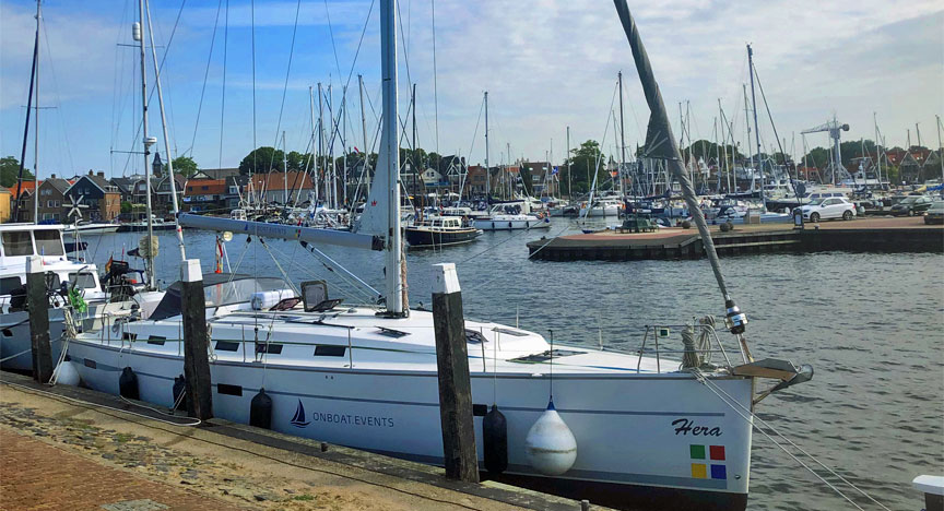 Hera 50 Fuss Segelyacht in Urk am Beach - Liegeplatz